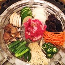Yum! Who doesn't love a big plate of veggies for Korean Barbeque in the West 30s: Kristabelli!