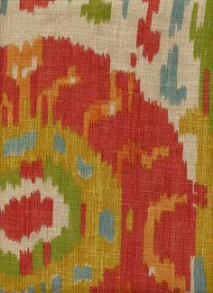 Linen Ikat fabric
