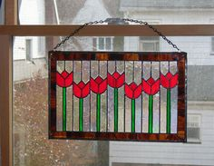 Dancing+Tulips+Window+Panel+by+sailingglass+on+Etsy,+$180.00