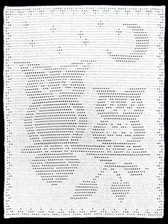 "Filet crochet pattern, $7. Would make a  cute baby blanket! Crocheted with size H/8/5mm hook and 29 oz/1,970 yds of worsted-weight yarn. Size: 40""W x 55""H."