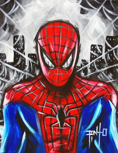 Spiderman Painting by Erik Pinto