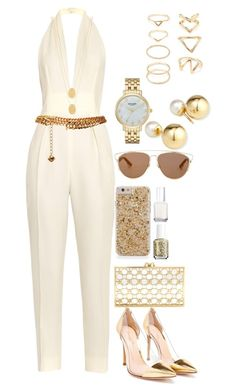 """Untitled #45"" by avisohanpal on Polyvore featuring Gucci, Yves Saint Laurent, Jennifer Zeuner, Gianvito Rossi, Charlotte Olympia, Essie, Christian Dior, Kate Spade, Yoko London and Forever 21"