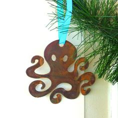Octopus Ornament by Outlaw Kritters #ornament #octopus #gifts www.outlawkritters.com