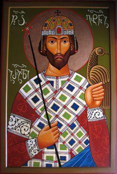St.Vakhtang Gorgasali. 2008 Click To Enlarge, Orthodox icon by Iconographer Tamara