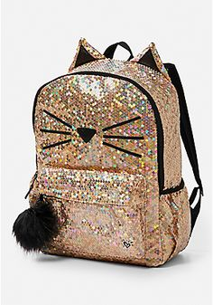 dbc2131eee Sparkle Cat Backpack Cute Bags
