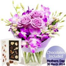 Just For Mum bouquet & Chocolates Mum Bouquet, Gifts Delivered, Flowers Delivered, Chocolates, Floral Arrangements, Floral Wreath, Handmade, Floral Crown, Hand Made