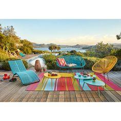 Copacabana outdoor seating at Maisons Du Monde Outdoor Seating, Outdoor Rugs, Outdoor Living, Outdoor Blanket, Outdoor Decor, Patio Tropical, Garden Furniture, Outdoor Furniture Sets, Outside Furniture