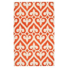 I pinned this Zuna Rug in Orange-Red from the A Punch of Summer event at Joss and Main!