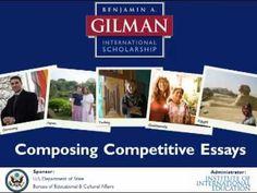 gilman scholarship follow on essay