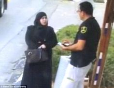 At the beginning of the footage, the Palestinian woman casually approaches the Israeli security guard