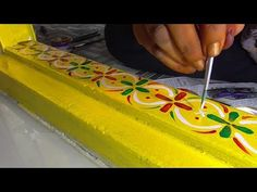 Indian Rangoli Designs, Rangoli Designs Flower, Rangoli Border Designs, Rangoli Designs With Dots, Flower Rangoli, Beautiful Rangoli Designs, Rangoli Borders, Rangoli Patterns, Rangoli Ideas
