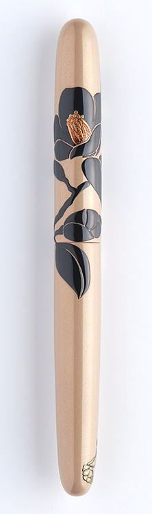 """""""Camellia flower based on Sumi """"Indian ink"""" technique""""-- this pen is $3,000 usd...I'd purchase in a heart beat. Absolutely stunning."""