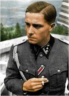Joachim Peiper at Berghof 10 july 1940, pin by Paolo Marzioli