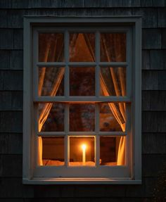 Candles Light the Night - The Express Magazine Window Candles, Candle Lanterns, Candle In The Window, Night Window, Illustration Noel, Through The Window, Light And Shadow, Winter Time, Custom Homes