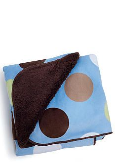 Carter's® Large Dot Velour Sherpa Blanket