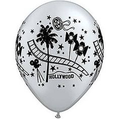 "Hollywood Balloons - Flat 11"" Hollywood themed latex balloon - great themed event decoration or prom balloon by Qualatex, http://www.amazon.co.uk/dp/B001GJ1L2A/ref=cm_sw_r_pi_dp_MGDlsb1V052P2"