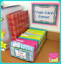 Task Card Corner: Task Card Storage & Organization: Tones of ideas on this blog for other task cards.
