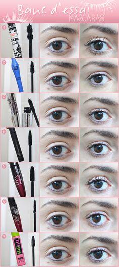testbed mascaras  http://lejoliblog.com/wp-content/uploads/2014/12/banc-dessai-mascara.jpg