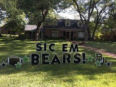 Well this is one way to cheer for Baylor! Waco Yard Greetings personalizes yard greetings and delivers them straight to your home.