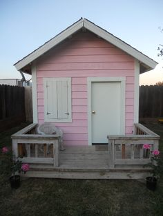 Fairytale Pink.........hen house/playhouse!!!!! Another dream came true......I have this in my back yard and some baby chicks.