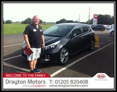 Mr England collecting his Ceed GT Line from Adrian | by draytonkia