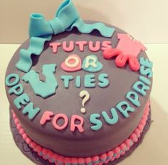 Gender reveal cake for Baby Lee