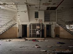 Entryway to cafeteria, Essex County Jail Annex, Caldwell, NJ. Demolished 2009.