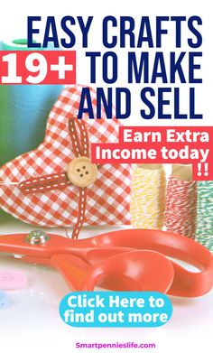 Are you looking for Crafts that you can make and sell? Find out which profitable crafts you could earn cash from. Money Making Crafts, Crafts To Make And Sell, Adult Crafts, Easy Crafts, What Can I Sell, Diy Tumblr, Way To Make Money, How To Make, Hobbies For Women
