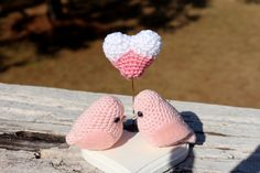 Valentine's gift set two love birds and a heart  available here https://www.etsy.com/listing/191325286/valentines-gift-set-two-love-birds-and-a?ref=shop_home_active_1