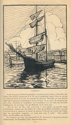 Marseille vintage illustration