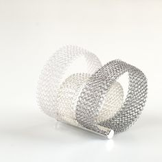 Ombre Bracelet, Layered Bracelet , ultra white, silver & steel - Yooladesign