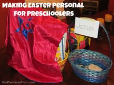 Sin, Easter baskets for Preschoolers