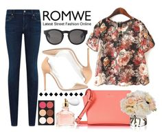 """""""Romwe contest - Win chiffon t-shirt!"""" by nadiya-15 ❤ liked on Polyvore featuring Gianvito Rossi, Citizens of Humanity, Kate Spade, Monki, Diane James and Guerlain"""