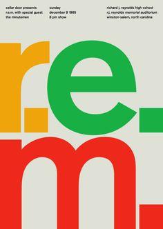 ロックアーティストをスイスデザインで表現したクリエイティブなポスターアート - K'conf