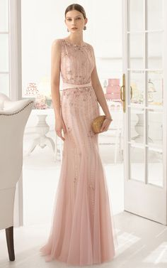 2015 sequin bridesmaid desses by Airebarcelona_BLush Pink