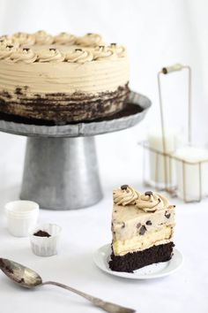 Chocolate Chip Cookie Dough Devil's Food Cake Cheesecake