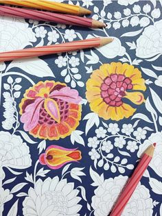We loved journeying with you into a paradise garden and seeing our designs come to life through your eyes! By Kimi Dangor.  #BaghEBahar #ColouringBookForAdults #ColourMeSublime