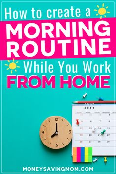 Need help organizing the start of your day? Create a morning routine that will help your productivity for the rest of the day while you work from home! #productivity #morningroutine #workfromhome #workingfromhome Binder Organization, Organizing, How To Start A Blog, How To Make Money, Money Saving Mom, Time Management Tips, Be Your Own Boss, Work From Home Moms, You Working