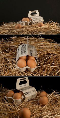 Egg Packaging Ideas: 39 Brilliant Designs for Your Inspiration Fruit Packaging, Food Packaging Design, Carton Design, Coffee Shop Logo, Food Graphic Design, Brown Eggs, Egg Holder, Olive Gardens, Chicken Eggs