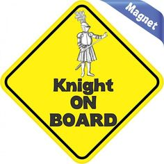 5x 5 Knight On Board Bumper magnet Decal Vinyl magnetic magnets Decals