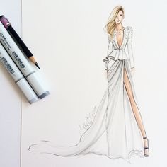 @pnemcova is a vision in @zuhairmuradofficial #cannes #fashionillustration…