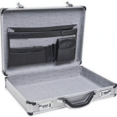 Aluminum Laptop Briefcase Silver 17 Business Lock Attache Case Brief Pockets for sale online