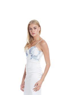 8ba925ada88 David and Issak - Monique Dress. Sequin Lace Bustier Dress