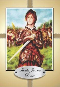 Santa Joana D'Arc orações em papel santinhos para promessa - Santinhos Ajuda Divina