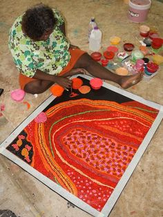 Gracie Ward Napaltjarri Muntati - My Grandmothers Country Aboriginal Dot Painting, Aboriginal Artists, Indigenous Australian Art, Indigenous Art, Arte Tribal, Aboriginal Culture, Native Art, Fabric Art, Artist At Work