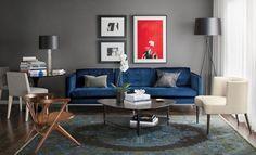 Room & Board - Grey & Black Pillows - Modern Throw Pillows by Color - Modern Home Decor Ottoman In Living Room, Living Room Chairs, Rugs In Living Room, Living Room Furniture, Home Furniture, Living Room Decor, Lounge Chairs, Dining Room, Entryway Furniture