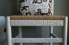 alphabet chair