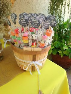 Candy Crate : Unique Salt Water Taffy party favor - Brian & I love salt water taffy!