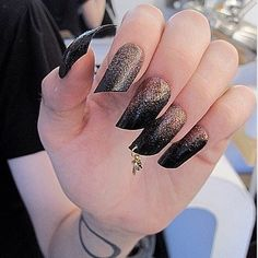 glitter x slant x pierced nails Nail Piercing, Piercings, Nail Polish Art, Types Of Nails, Nail Art Galleries, Hair And Nails, Class Ring, Nail Designs, Glitter