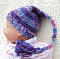Newborn Purple Elf Hat in Purple  Baby Photo by BohemianJubilee, $18.00 #hmcApril #handmadeC @thisartofmineUS